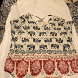 Elephant inspired top size Lg.